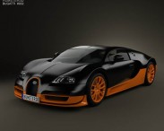 3D model of Bugatti Veyron Grand-Sport World-Record-Edition 2011