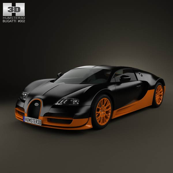 bugatti veyron grand sport world record edition 2011 3d model humster3d. Black Bedroom Furniture Sets. Home Design Ideas