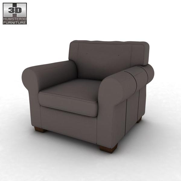 IKEA EKTORP Armchair 3D model - Humster3D