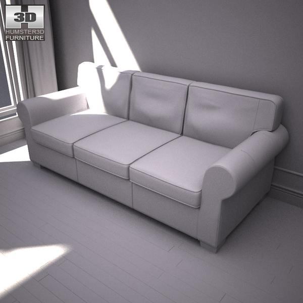 Ikea Ektorp Three Seat Sofa 3d Model Humster3d