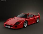 3D model of Ferrari F40 1987