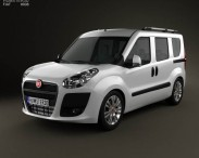 3D model of Fiat Nuovo Doblo Combi 2011