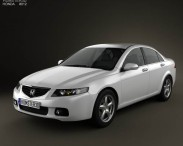 3D model of Honda Accord sedan 2003