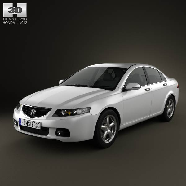 Honda Accord sedan 2003 3d car model