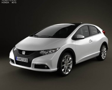 3D model of Honda Civic EU 2012