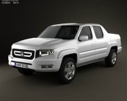 3D model of Honda Ridgeline 2009