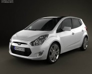 3D model of Hyundai ix20 2011