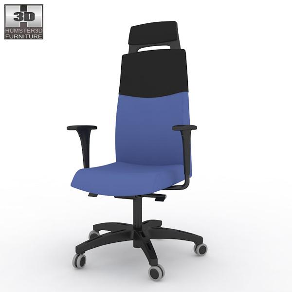 IKEA VOLMAR Swivel Chair 3D model Humster3D