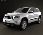3D model of Jeep Grand Cherokee 2011