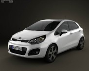 3D model of Kia Rio 5-door 2012