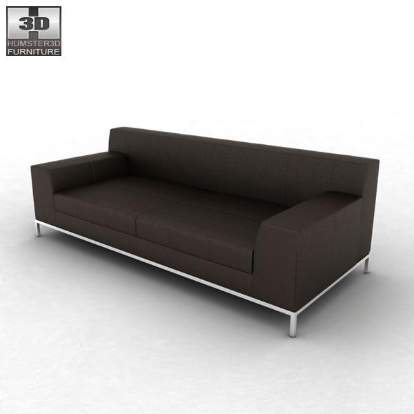 IKEA KRAMFORS Three-Seat Sofa 3D model - Humster3D
