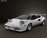 3D model of Lamborghini Countach 5000 QV 1985
