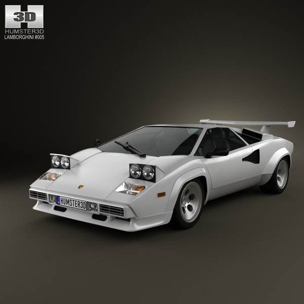 lamborghini countach 5000 qv 1985 3d model humster3d. Black Bedroom Furniture Sets. Home Design Ideas
