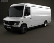 3D model of Mercedes-Benz Vario Panel Van LWB High Roof 2011