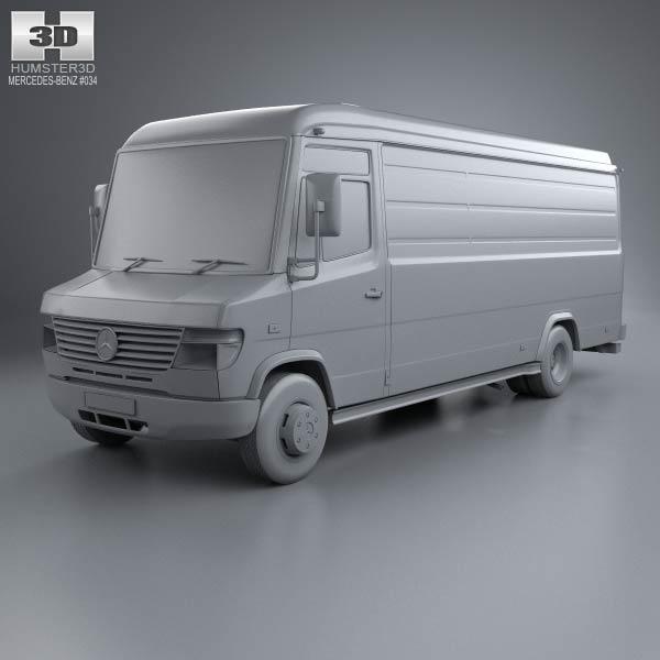 mercedes benz vario panel van lwb high roof 2011 3d model. Black Bedroom Furniture Sets. Home Design Ideas