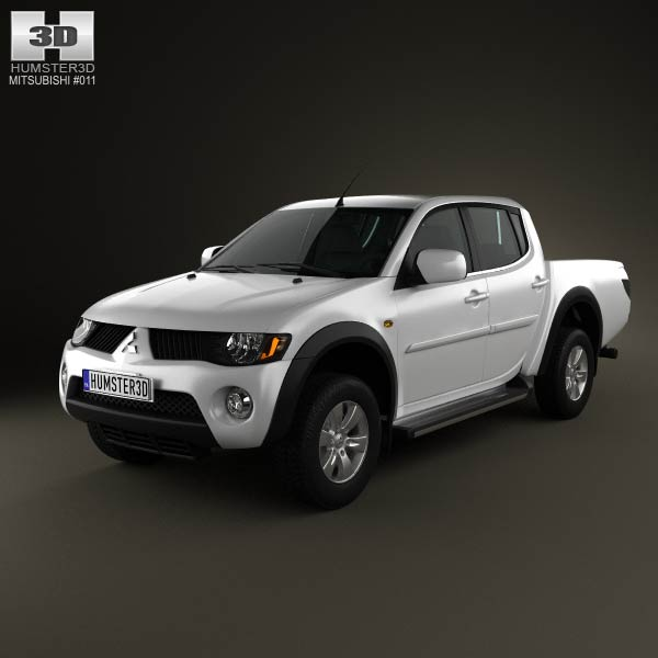 Mitsubishi L200 Triton Double Cab 2011 3d car model