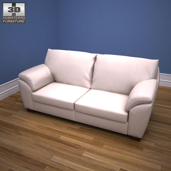 Ikea vreta three seat sofa 3d model humster3d for Sofa 3d model
