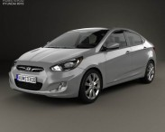 3D model of Hyundai Accent (i25) Sedan 2012