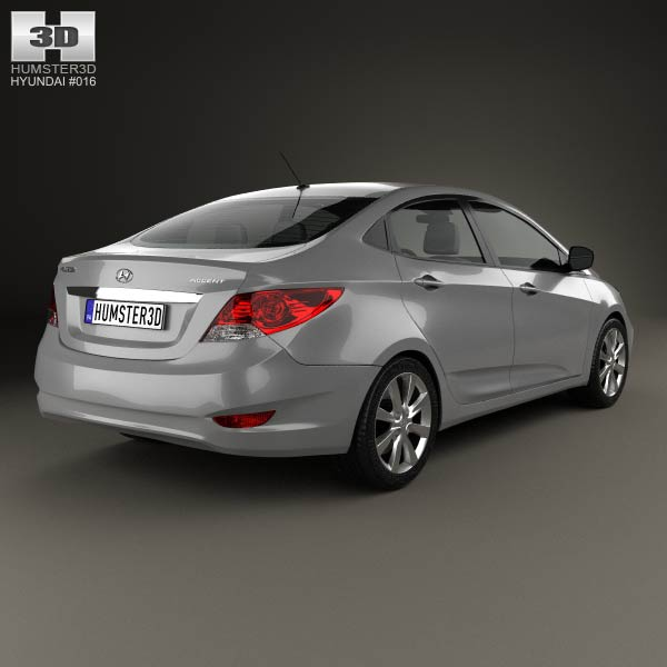 Hyundai Accent (i25) Sedan 2012 3d model