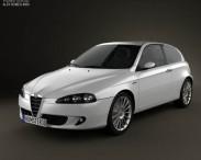 3D model of Alfa Romeo 147 3door 2009