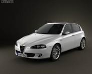 3D model of Alfa Romeo 147 5-door 2009