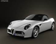 3D model of Alfa Romeo 8c Spider 2011