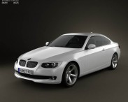 3D model of BMW 3 series Coupe 2011