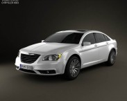 3D model of Chrysler 200 sedan 2011
