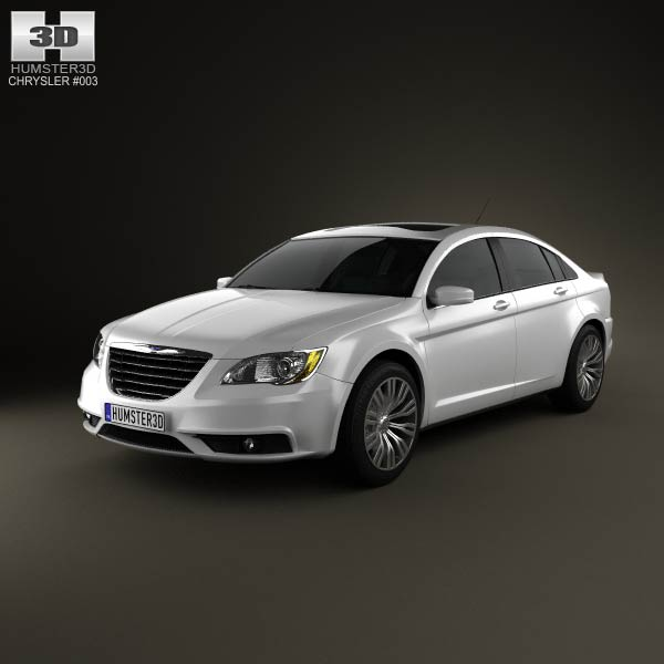 Chrysler 200 sedan 2011 3d car model