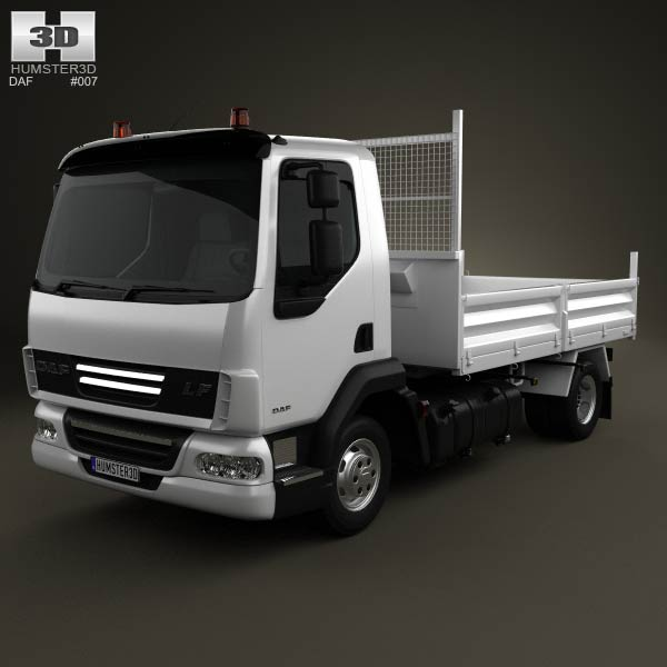 DAF LF Dropside Tipper 2011 3d car model