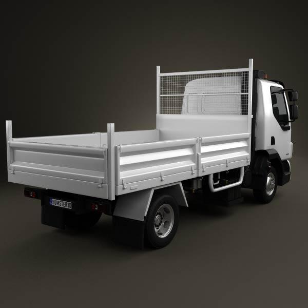 DAF LF Dropside Tipper 2011 3d model