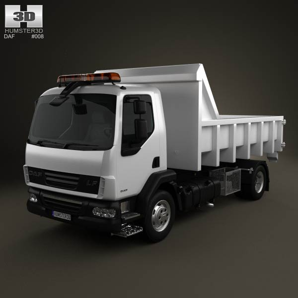 DAF LF Tipper 2011 3d car model