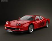 3D model of Ferrari Testarossa 1986