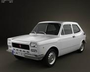 3D model of Fiat 127 1975