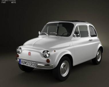 3D model of Fiat 500 1970