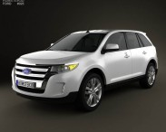 3D model of Ford Edge 2012