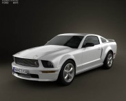 3D model of Ford Mustang Shelby GT-H 2006
