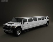 3D model of Hummer H2 Limousine 2010
