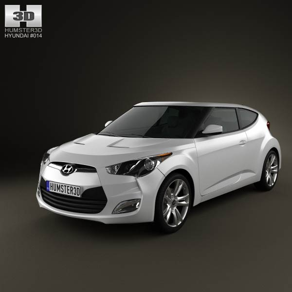 Hyundai Veloster 2012 3d car model