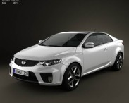 3D model of Kia Forte (Cerato, Naza) Coupe 2012