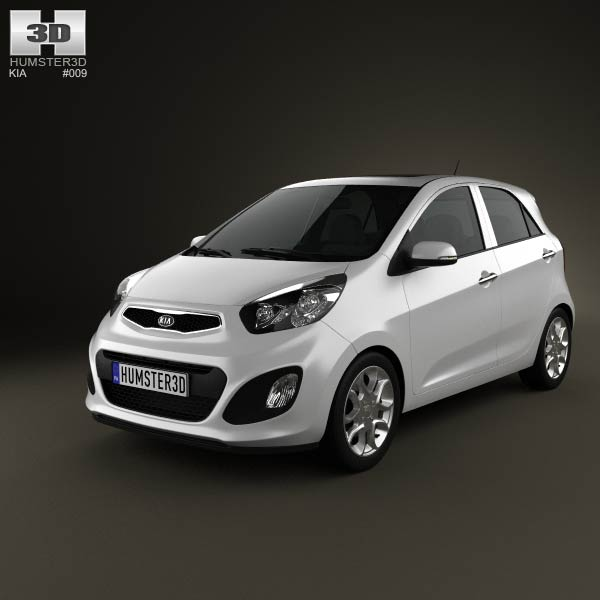 Kia Picanto (Morning) 5-door 2012 3d car model