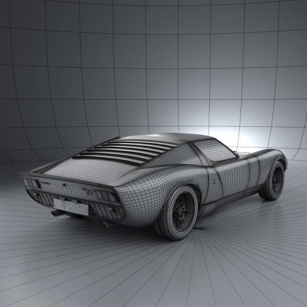 Lamborghini Miura P400SV 1971 3D Model download (3ds max, obj formats ...