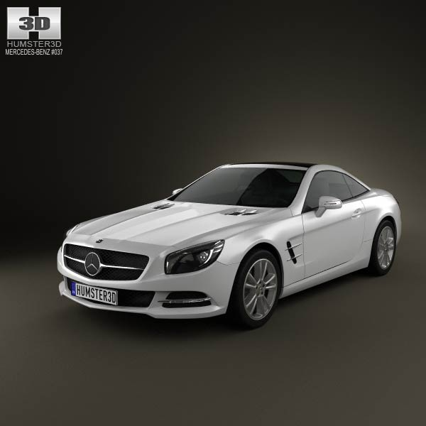 mercedes benz sl class 2012 3d model humster3d