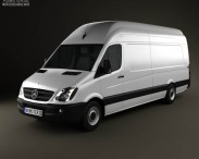 3D model of Mercedes-Benz Sprinter Panel Van Extralong 2011