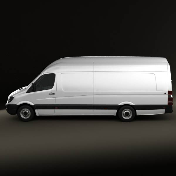 mercedes benz sprinter panel van extralong 2011 3d model