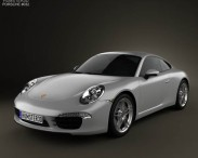 3D model of Porsche 911 Carrera Coupe 2012