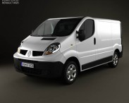 3D model of Renault Trafic Panel Van ShortWheelbase StandardRoof