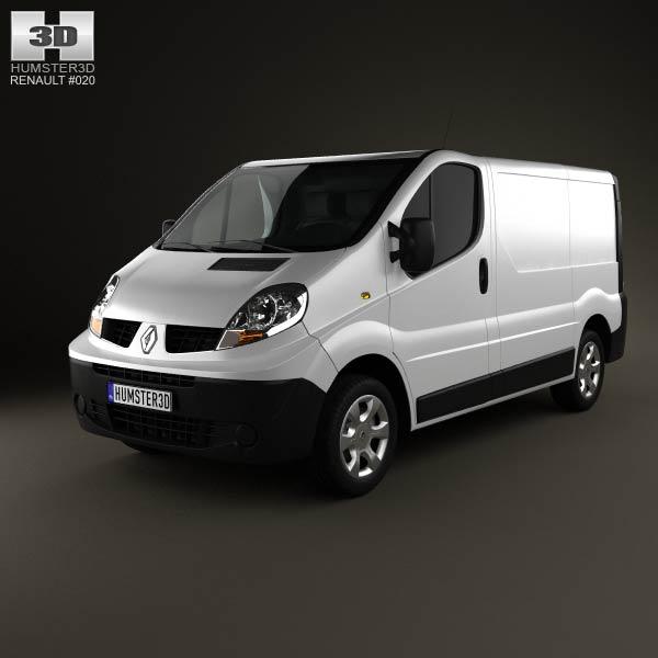 3D model of Renault Trafic Panel Van ShortWheelbase StandardRoof