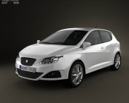 3D model of Seat Ibiza hatchback 5-door 2011