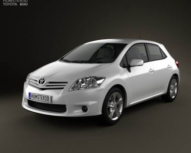 3D model of Toyota Auris 2012